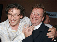 Steve Coogan and Tony Wilson