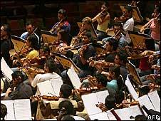 Simon Bolivar National Youth Orchestra of Venezuela (AFP)