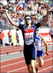 Martyn Rooney wins the men's 400m at the European Cup