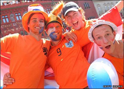Dutch fans in Basel