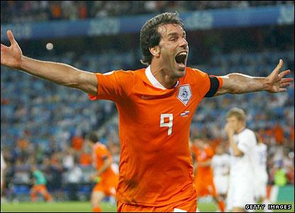 Ruud van Nistelrooy celebrates
