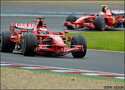 Raikkonen leads the race