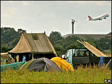 Last year's eco-camp at Heathrow