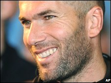 Former France legend Zinedine Zidane