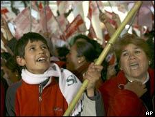 Autonomy supporters celebrate in Tarija on 22 June 2008