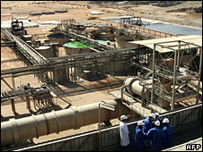 File photo of installations near a uranium mine in Arlit, Niger