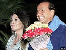Silvio Berlusconi and his wife Veronica