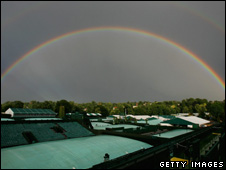 Rainbow over Wimbledon