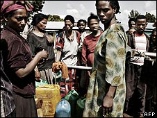 Ethiopian women with jerry cans