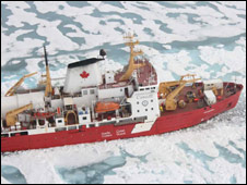 Canadian Coast Guard Ship Amundsen (Liz Kalaugher/IOP)