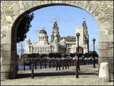 View of the Liver Buildings from the Albert Dock