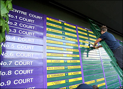 The draw is laid out for all to see at SW19