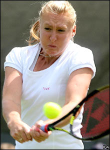 Britain's Elena Baltacha in action