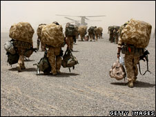 UK paratroopers in Afghanistan