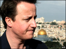 David Cameron in Jerusalem