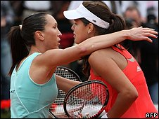 Jelena Jankovic and Ana Ivanovic meet in the French Open