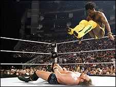 Kofi Kingston in action in the WWE