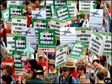 Anti-Heathrow expansion protest