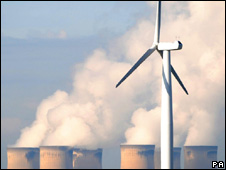 Wind turbine and Drax power station