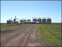 Grain silos in Uruguay