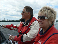 Ken and Ruth in their Hunton 45