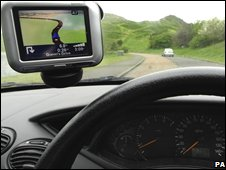 Generic picture of a Sat nav system