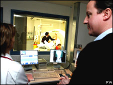 David Cameron watches X-ray