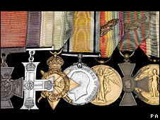 Medals awarded to Major Herbert James