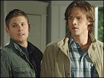 Jensen Ackles [l] and Jared Padalecki [r] are the leads in Supernatural