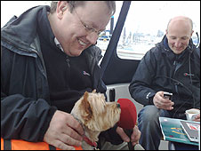 Declan Curry and Ecco the dog