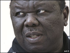 Morgan Tsvangirai addresses media in Harare on 22 June 2008