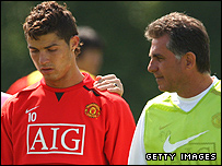 Cristiano Ronaldo (left) and Carlos Queiroz