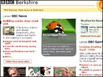 Screenshot of BBC Berkshire