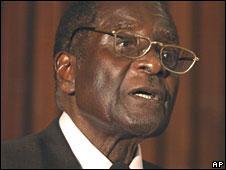 President Robert Mugabe in Harare on 16 May 2008
