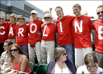 Caroline Wozniacki supporters