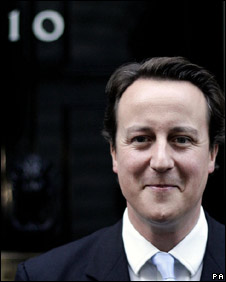 David Cameron in Downing St