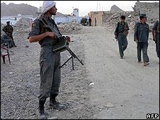 Policeman in Afghanistan