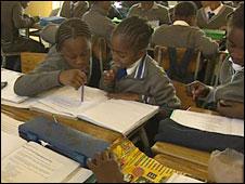 Children at Troyeville Primary School, Johannesburg
