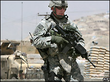 US soldier in Afghanistan - 2007 file photo