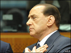 Silvio Berlusconi, pictured 20 June 2008