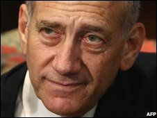 File photograph of Ehud Olmert