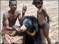 Ramesh Munda, Rani the bear and daughter Gulki