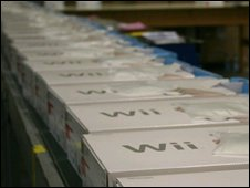 Wii on production line