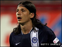 Hertha Berlin striker Marko Pantelic