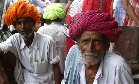 Mehrats and Kathats gather at a local market in Rajasthan