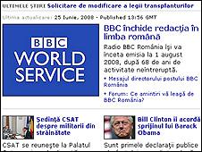 BBC Romanian Service website