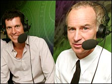 Tim Henman and John McEnroe