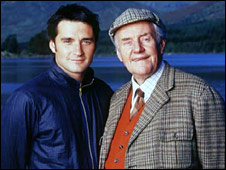 Actors Alastair Mackenzie and Richard Briers