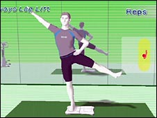 Screen grab from Wii Fit