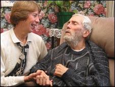 Angela Smith with her husband, Freddie